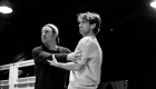 Roger Bart and Olly Dobson in rehearsals for Back to the Future The Musical, credit Sean Ebsworth Barnes