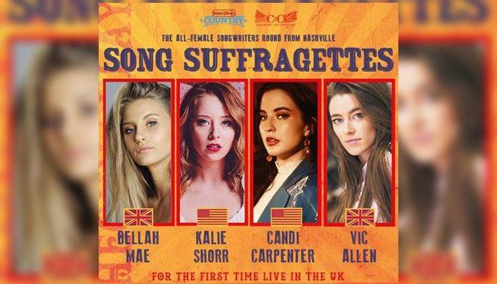 Manchester gigs - Song Suffragettes - Bellah Mae Kalie Shorr Candi Carpenter Vic Allen