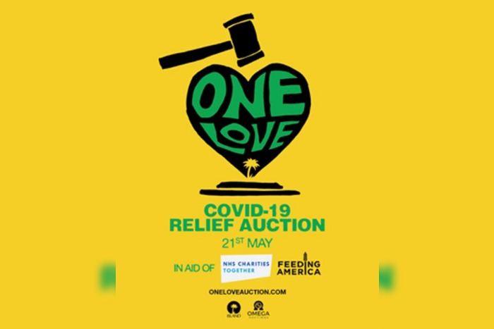 Island Records to hold One Love Auction for NHS Charities and Feeding America