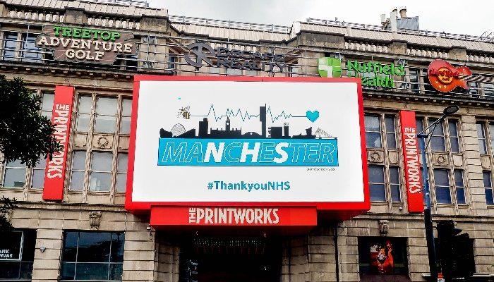 Printworks - thank you NHS