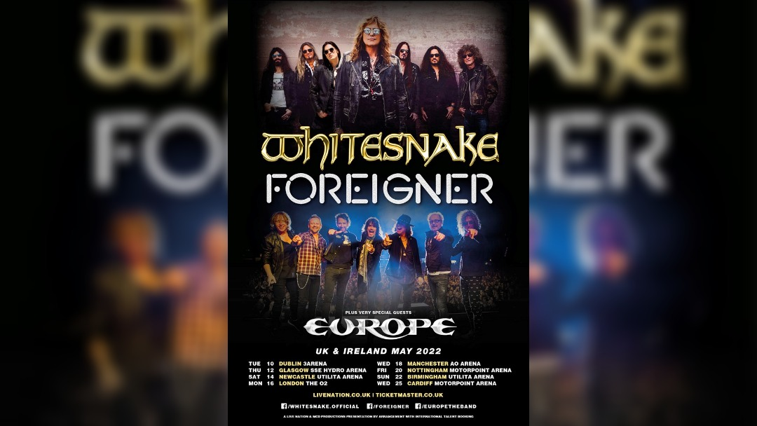 Whitesnake and Foreigner announce UK tour including Manchester Arena