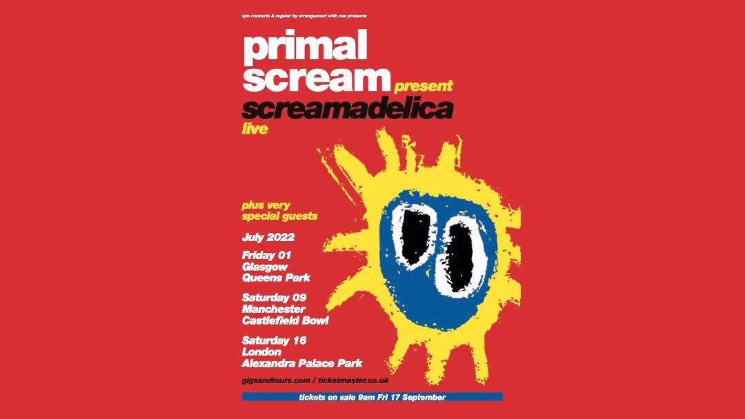 Primal Scream announces huge gig at Manchester's Castlefield Bowl